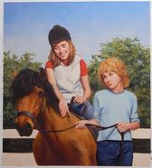 Pony Pals 32 Hes My Pony original oil painting