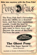 Pony Pals Super Special 3 Ghost Pony bookad from PP16