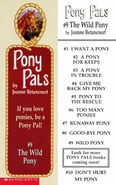 Pony Pals 9 The Wild Pony bookmark front and back