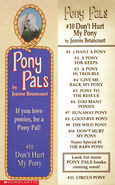 Pony Pals 10 Dont Hurt My Pony bookmark front and back