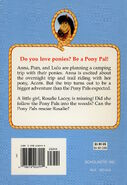 Pony Pals 5 Pony to the Rescue back cover