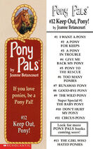 Pony Pals 12 Keep Out Pony bookmark front and back