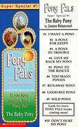 Pony Pals Super Special 1 The Baby Pony bookmark front and back