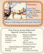 8 Winston collecting card front and back Pony Pals Good-Bye Pony