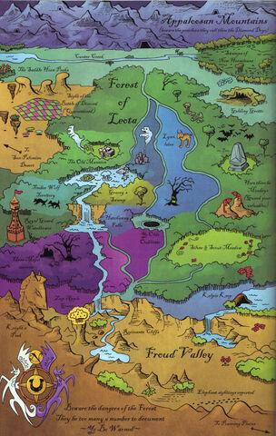 File:Map-south of Equestria-scan-IDW main series MLPFiM comic 2.jpg