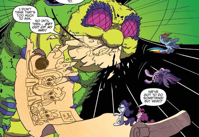 File:544084 safe twilight sparkle rainbow dash pinkie pie rarity princess twilight idw spoiler-colon-comic bookworm spoiler-colon-comic16.jpg