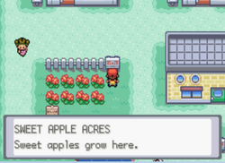 Sweet Apple Acres sign