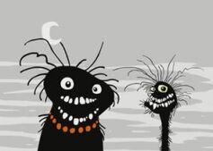 Two demon head monsters