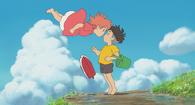 Ponyo and Sosuke kiss