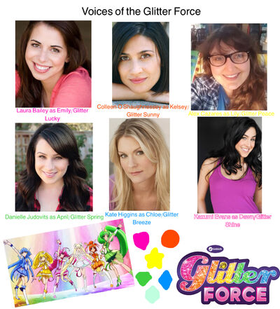 Six Glitter Force Cast