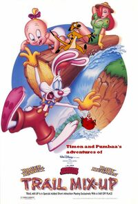 Timon and Pumbaa's adventures of Trail Mix Up Poster