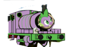 MLP Spike as a Thomas character