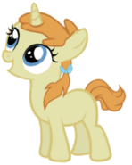 Pumpkin Cake as a young filly