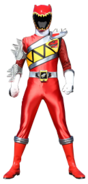 Dino Charge Red Ranger in Dino Steel