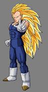 Vegeta Super Saiyan 3 by dbzataricommunity