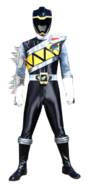 Dino Charge Black Ranger in Dino Steel