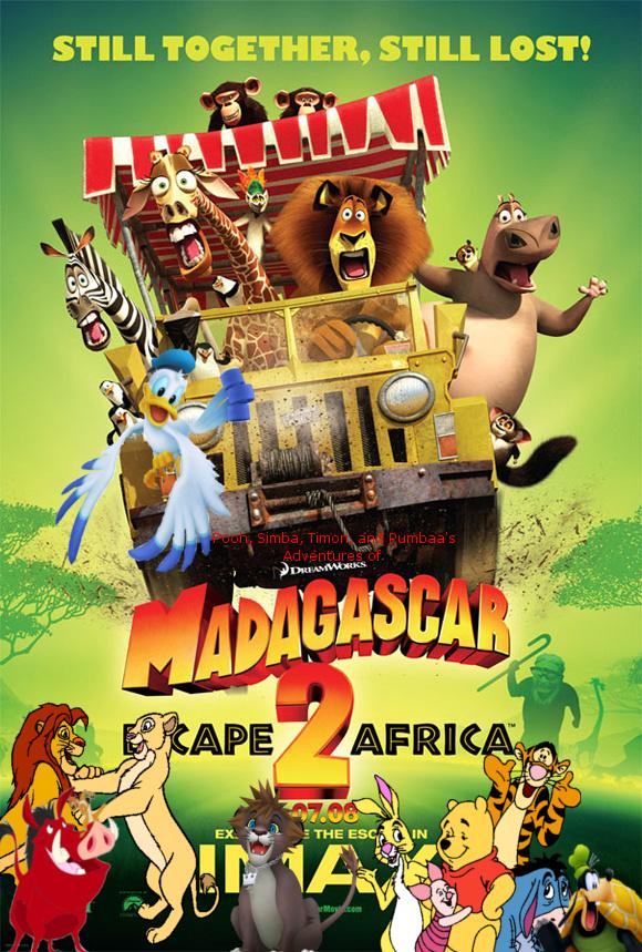 Pooh, Simba, Timon, and Pumbaa's Adventures of Madagascar: Escape 2