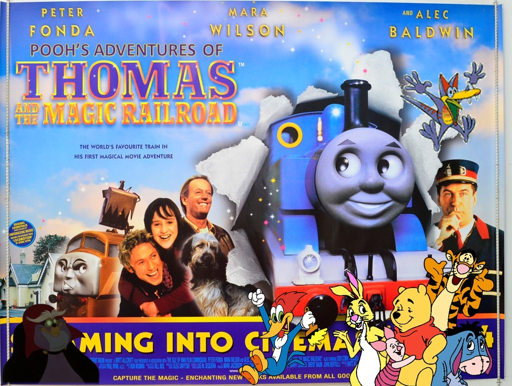 Pooh's adventures of Thomas and the Magic Railroad Poster