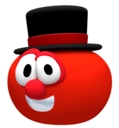 Bob the tomato in a tophat render by nintega dario-dc2po5u