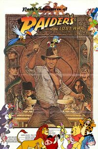 Pooh's adventures of Raiders of The Lost Ark Poster