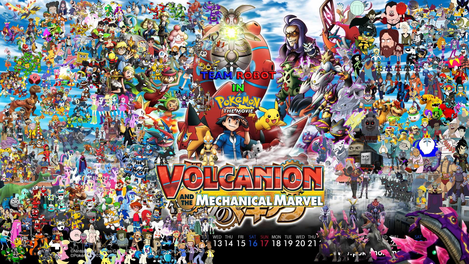Team Robot In Pokemon Movie Volcanion And The Mechanical Marvel