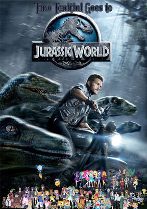 Tino Tonitini Goes to Jurassic World Poster
