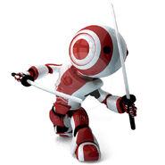 59769-glossy-red-robot-ninja-holding-katanas