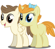 Pound Cake and Pumpkin Cake (colt and filly)