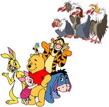 Pooh's Adventures Series - Winnie the Pooh, Tigger, Piglet, Eeyore, Rabbit, Buzzie, Flaps, Dizzy, Ziggy, & Jiminy Cricket