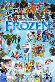 Winnie the Pooh gets Frozen poster (version 2)