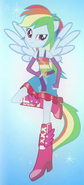 Rainbow Dash's half-pony form