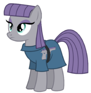 Maud armed with her Jericho pistol