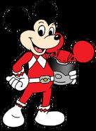 Mickey Mouse as a Power Ranger