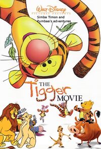 Simba Timon and Pumbaa's adventures of The Tigger Movie Poster