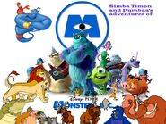 Simba Timon and Pumbaa's adventures of Monsters Inc Poster