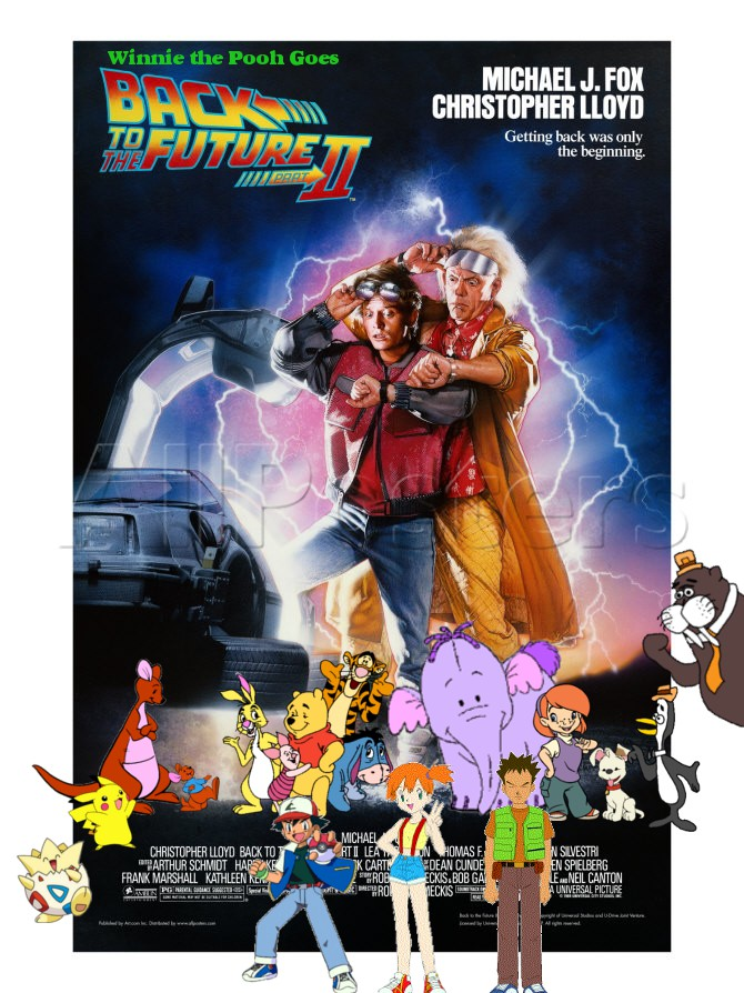 Winnie the Pooh Goes Back to the Future Part II Poster