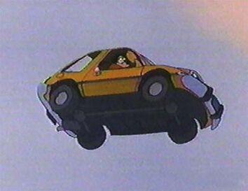 Goofy's Yellow Car