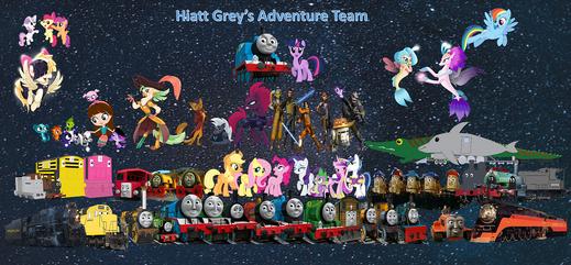 Hiatt Grey's Adventure Team (with Honorary Members)