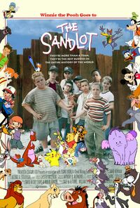 Winnie the Pooh Goes to The Sandlot Poster