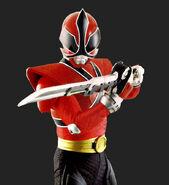 Samurai Red Ranger (Mega Mode)