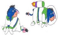 Eeyore in his space ranger uniform in 2 poses by yakkowarnermovies101-da0dhjp