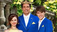 Queen Belle, King Adam and Prince Ben