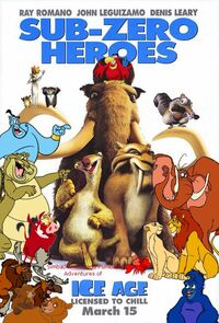 Simba, Timon, and Pumbaa's Adventures of Ice Age Poster