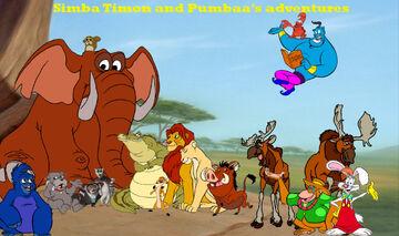 Simba Timon and Pumbaa's adventures poster 1