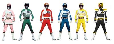 Six power rangers