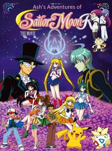 Ash's Adventures of Sailor Moon R The Movie Promise of The Rose Poster