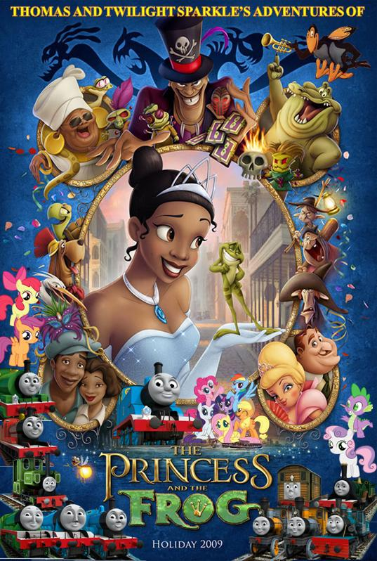Thomas and Twilight Sparkle's Adventures of The Princess and the Frog Poster