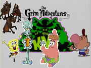 Spongebob and the Hynias on the grim adventures of Knd.