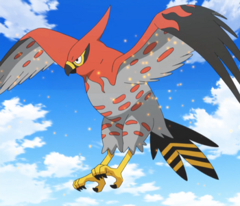 Talonflame pooh 39 s adventures wiki fandom powered by wikia - Ash fletchinder evolves into talonflame ...