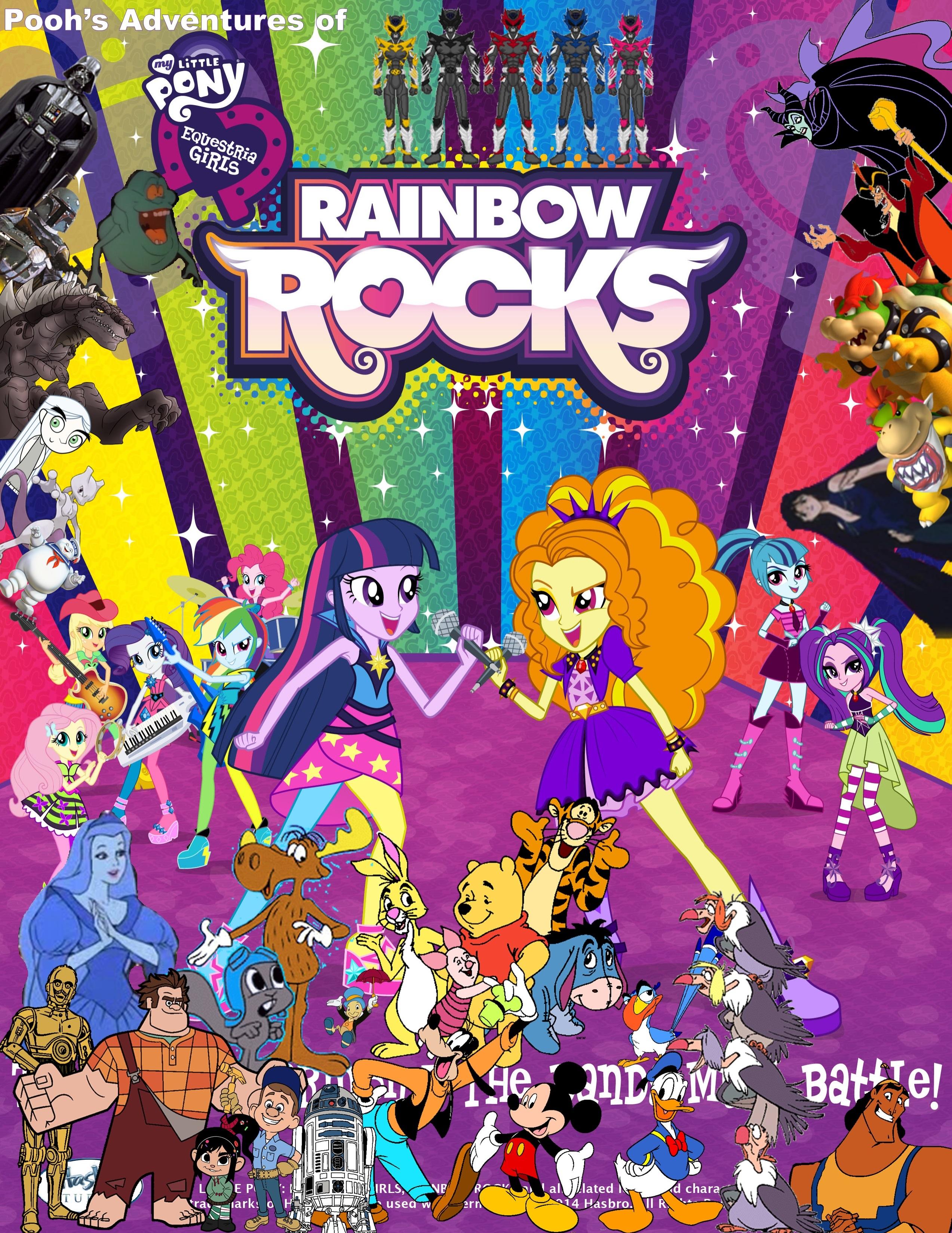 Pooh's Adventures of My Little Pony - Equestria Girls - Rainbow Rocks Poster